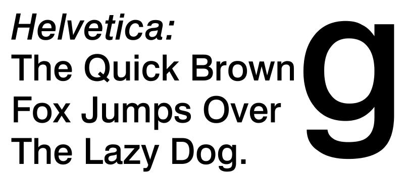 Die Helvetica gehört zu den am weitesten verbreiteten serifenlosen Schriftarten.