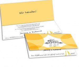 Einladung Hochzeitsantrag Paris