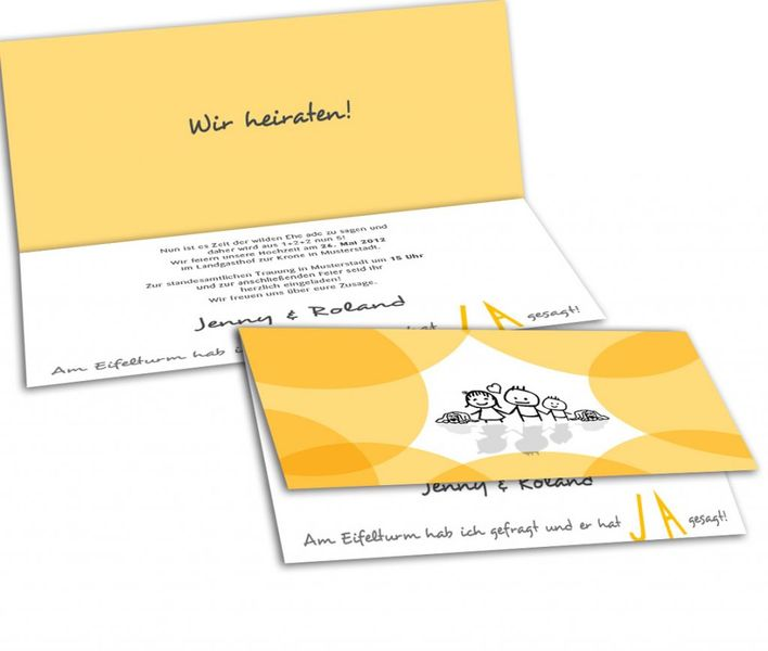 Einladung Heiratsantrag Paris