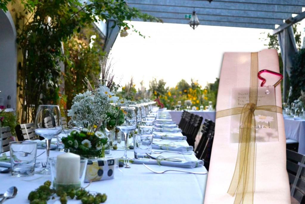 Tischkarten als Gastgeschenk