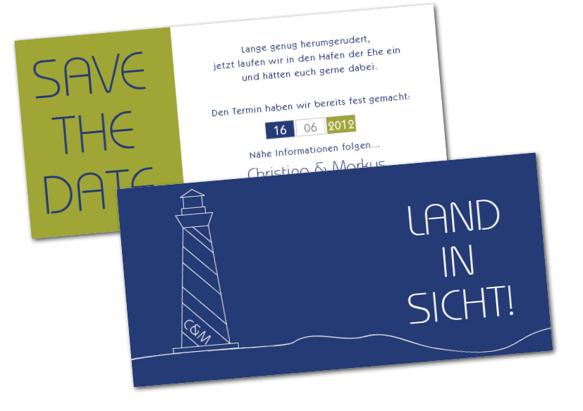 land in sicht save the date