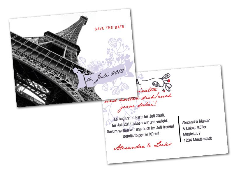 paris save the date karte