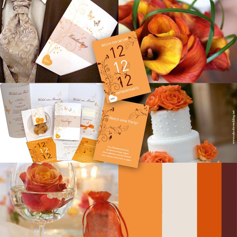 Viele bunte Farben setzen sich in den nächsten Jahren uach bei den Hochzeitseinladungen durch