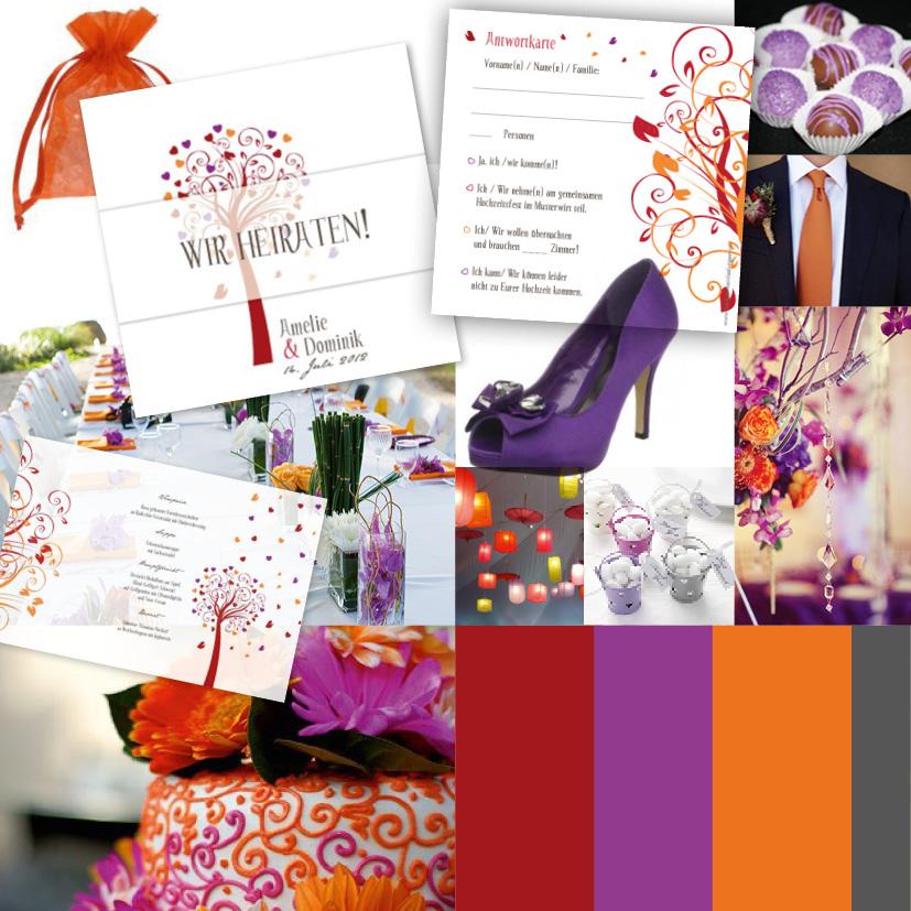 Trendfarben 2012 bei Hochzeitseinladungen sind eindeutig bunter