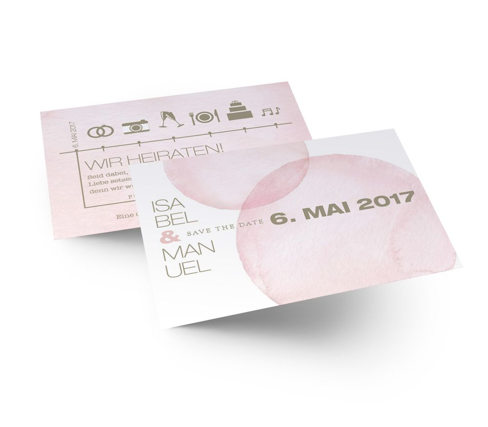 Save the Date Karte zur Hochzeitseinladung E009