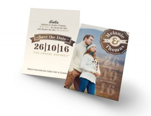 Save the Date Karte zur Hochzeitseinladung C065