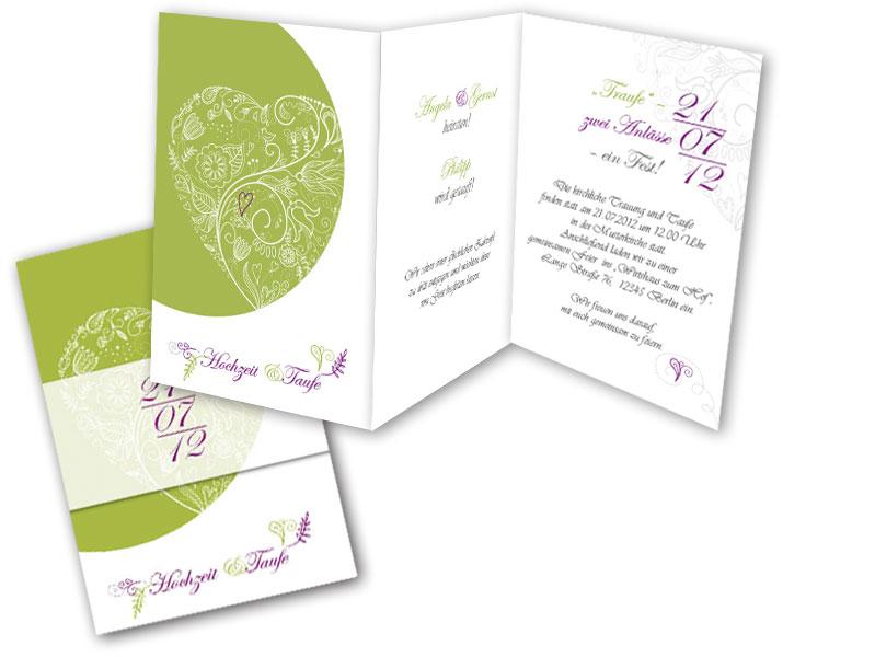 Einladungskarten Hochzeit Und Taufe Vorlagen