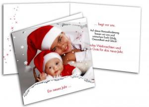 Beispiel einer individuellen Weihnachtskarte
