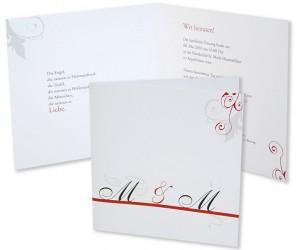 hochzeitseinladungskarte mit engel und bengel