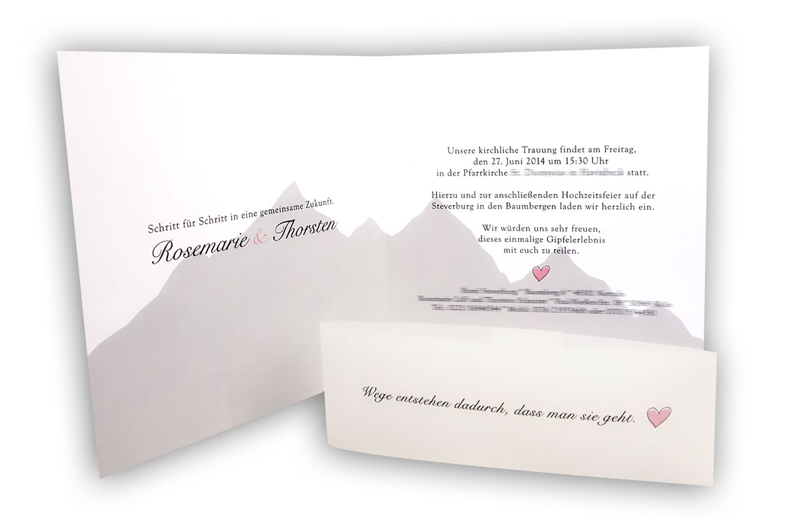 Einladung Hochzeit Silhoutte Herz B075 Stilvoll Heiraten Alles
