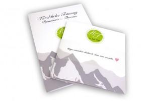 Hochzeit am Berg - Design für Hochzeitseinladungen und Kirchenprogramm