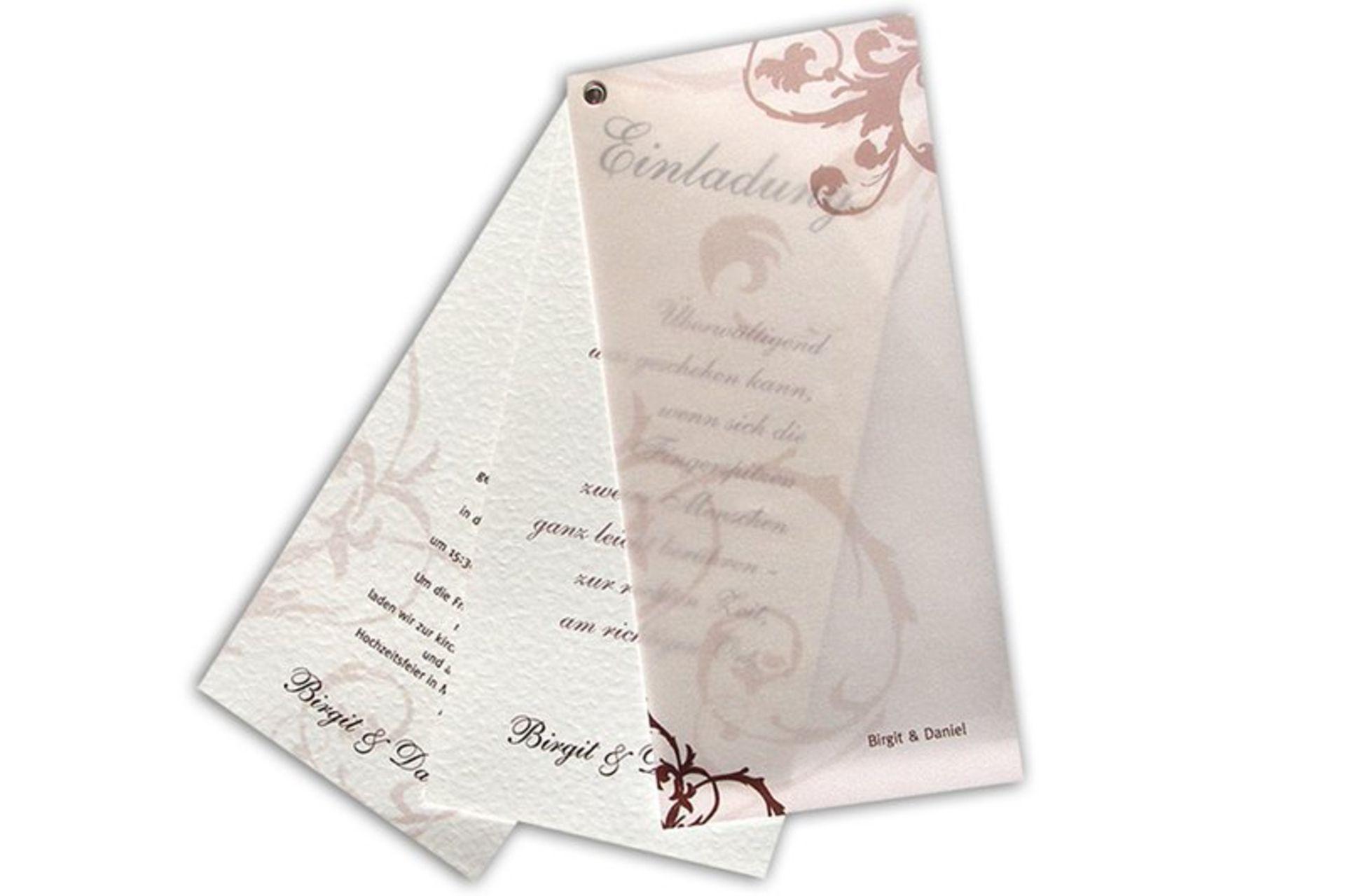 Individualisierung Von Hochzeitseinladungen Und Anlasskarten