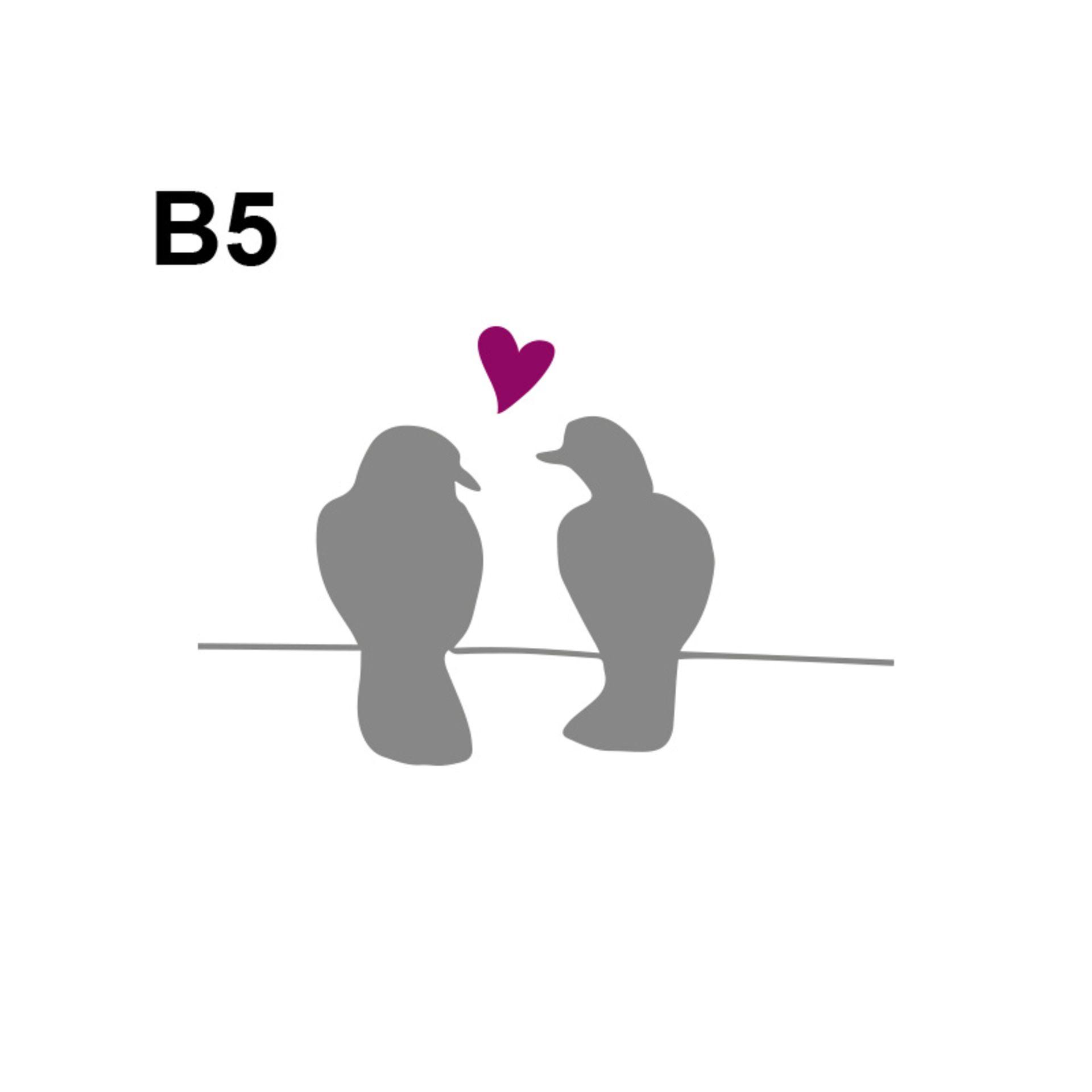 Tauben Hochzeitslogos Der Eyecatcher Auf Der Hochzeitskarte