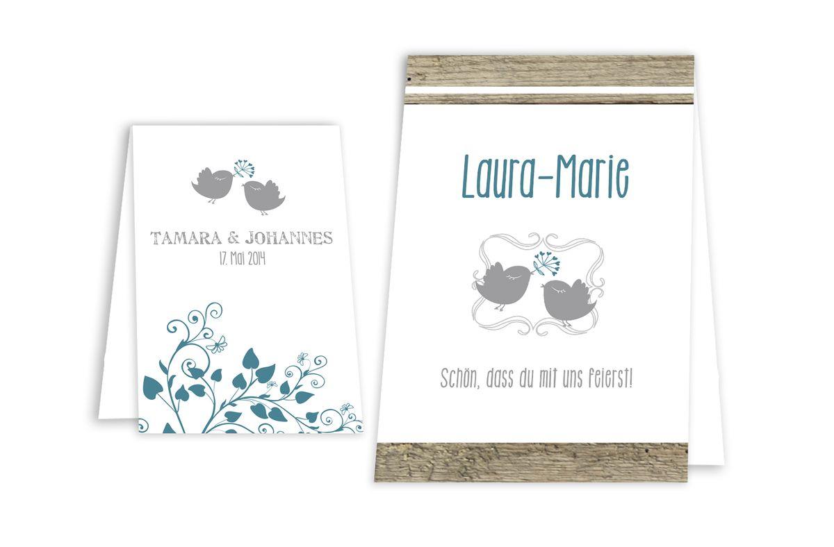 Lovebirds taschentuchhüllen mit banderole