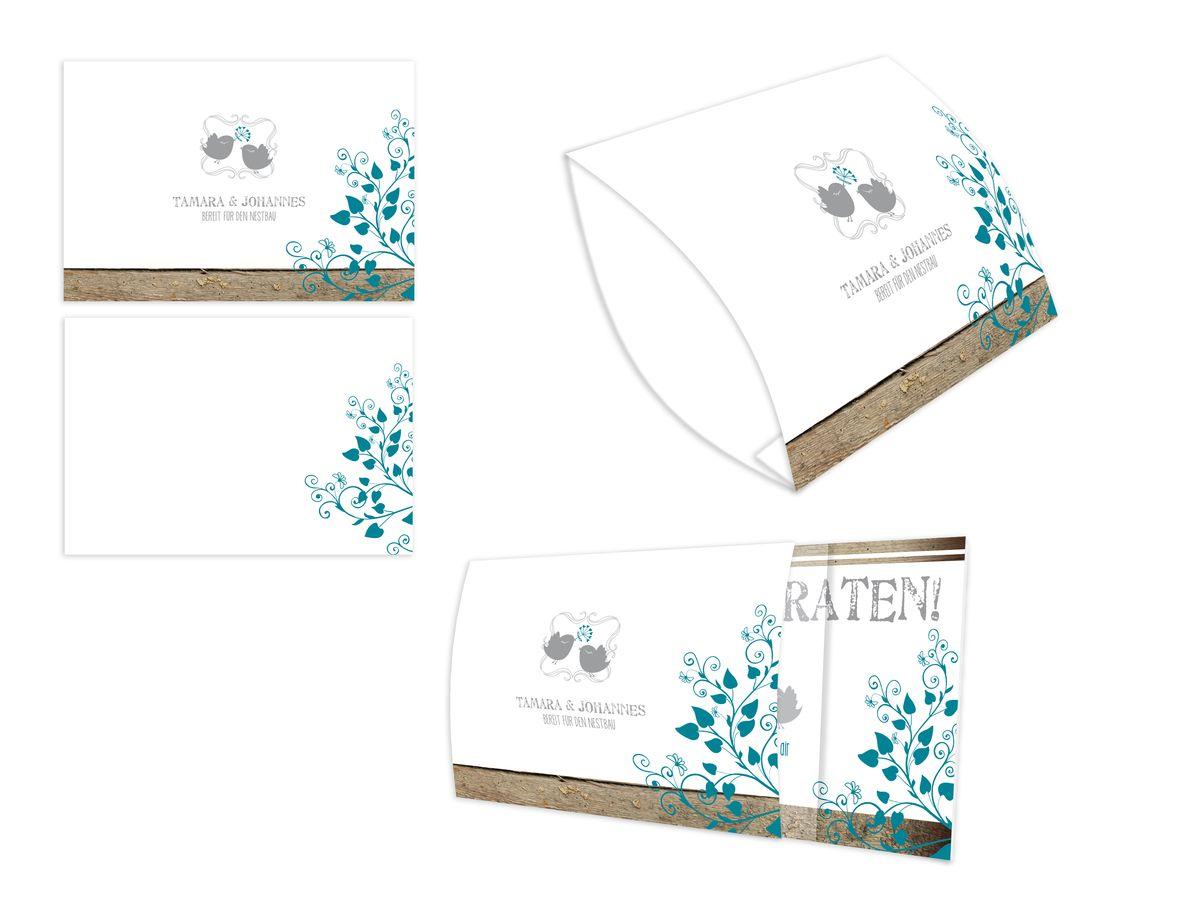 Lovebirds Einsteck Kuverts Mit Banderole