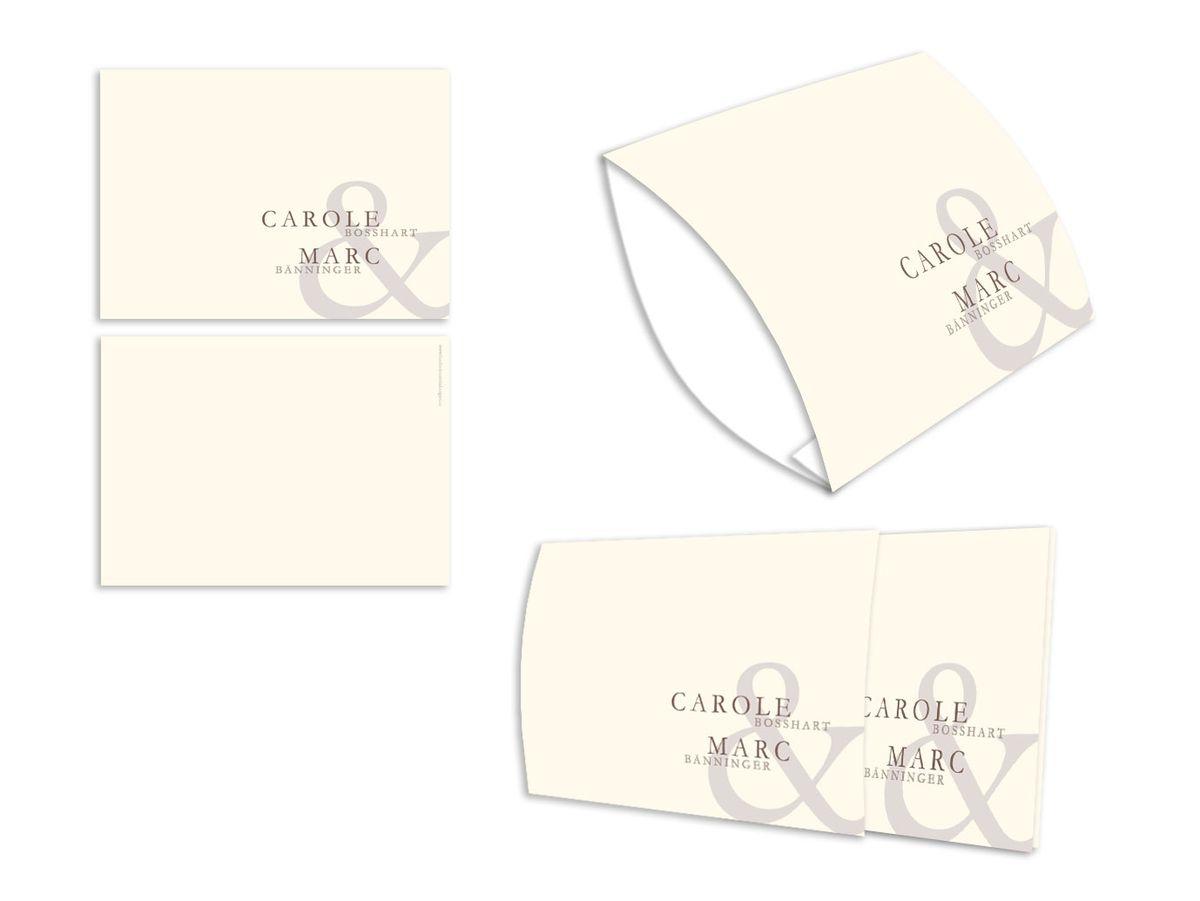 Einsteck kuverts namhaft beige din lang einzelkarte 1