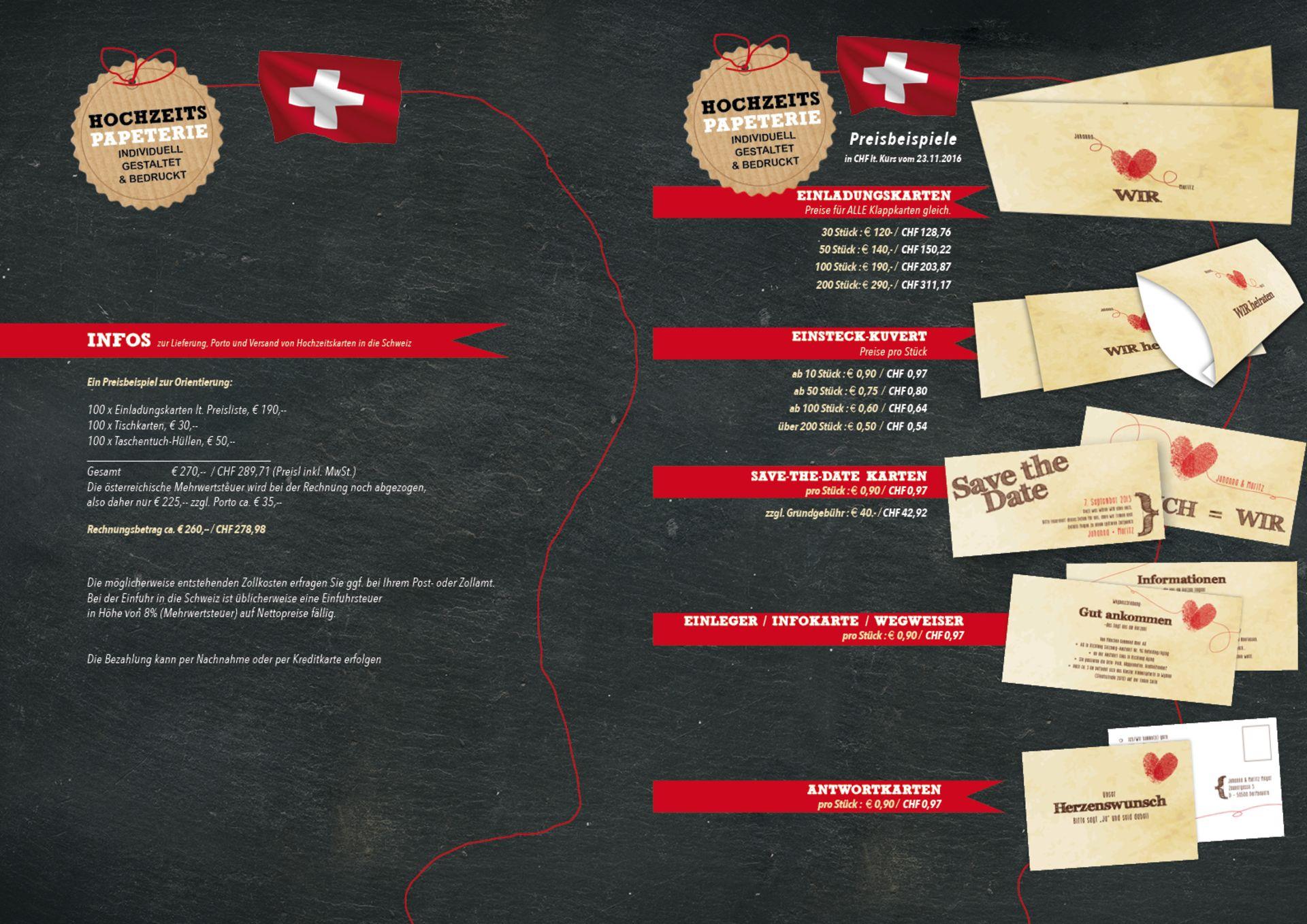 Hochzeitseinladungen Für Die Schweiz Günstig Bestellen
