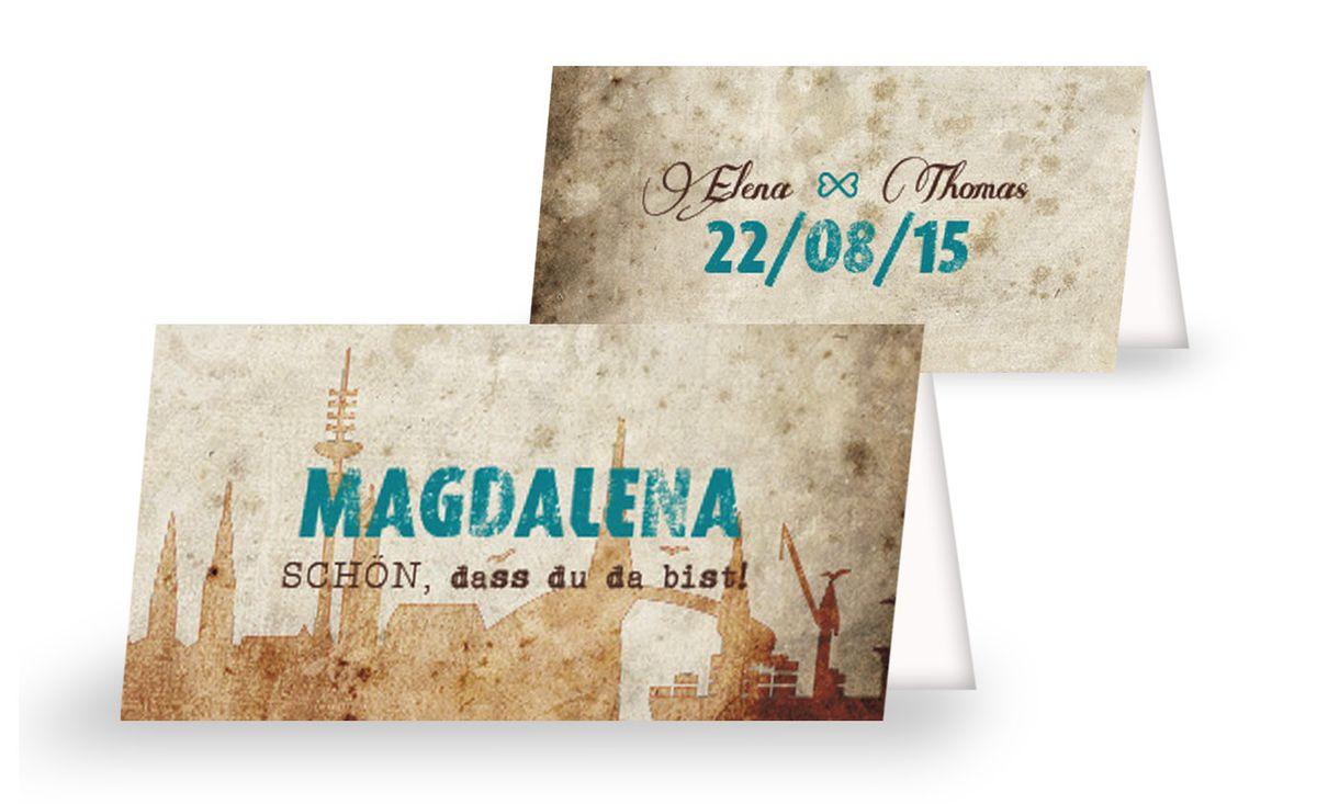 Edle ticket tischkarten believe in magic tischkarte 1