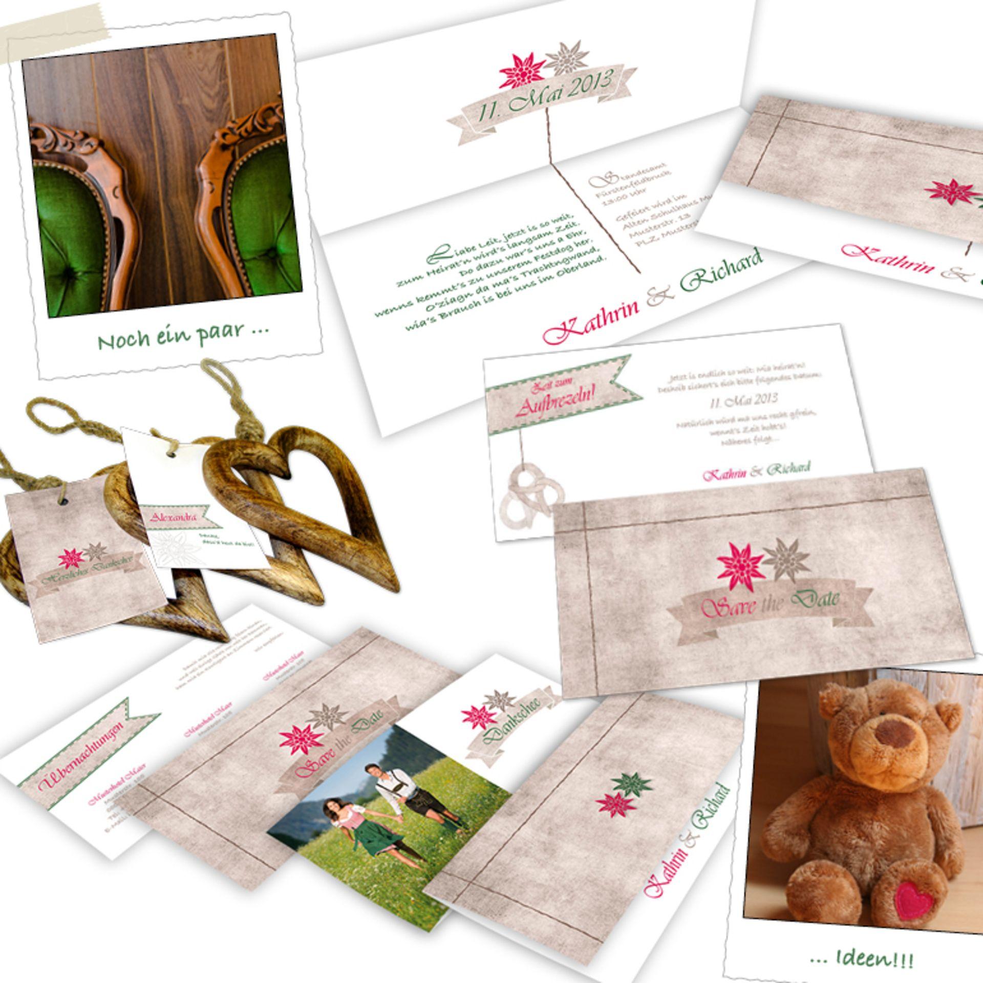 Trachtenhochzeit? Trachtige Hochzeitskarten Sets Bei Uns Erhältlich,  Einladung