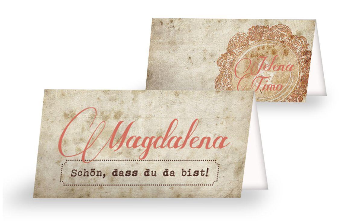 Stilvolle ticket tischkarten eine liebesgeschichte geht weiter tischkarte 1