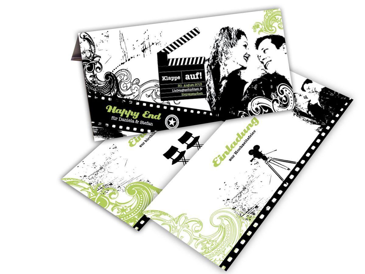 Einsteck Kuverts Anders Einladen Tickets Zur Hochzeitspremiere