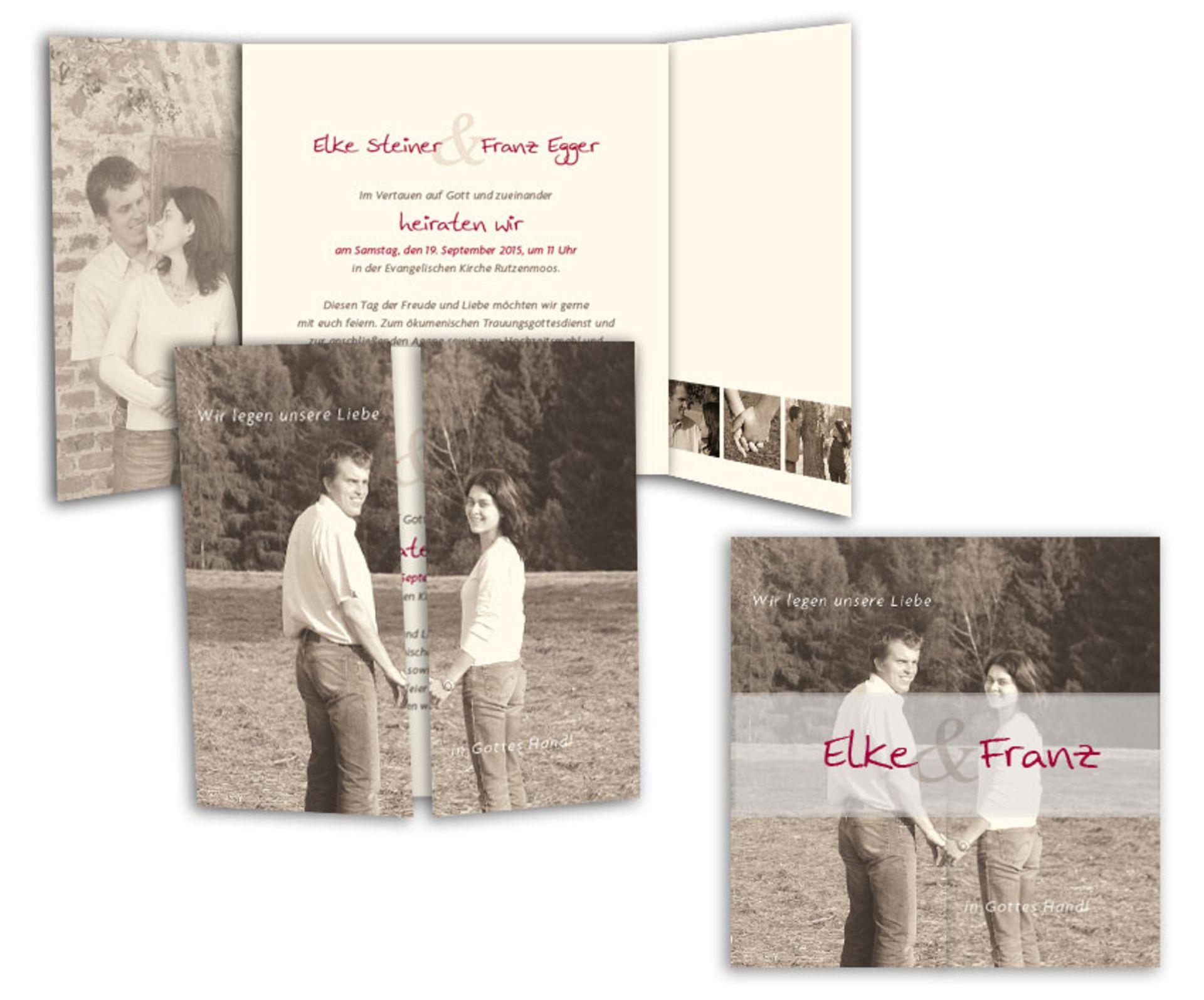 Hochzeitseinladungen mit Foto sind sehr persönlich und individuell