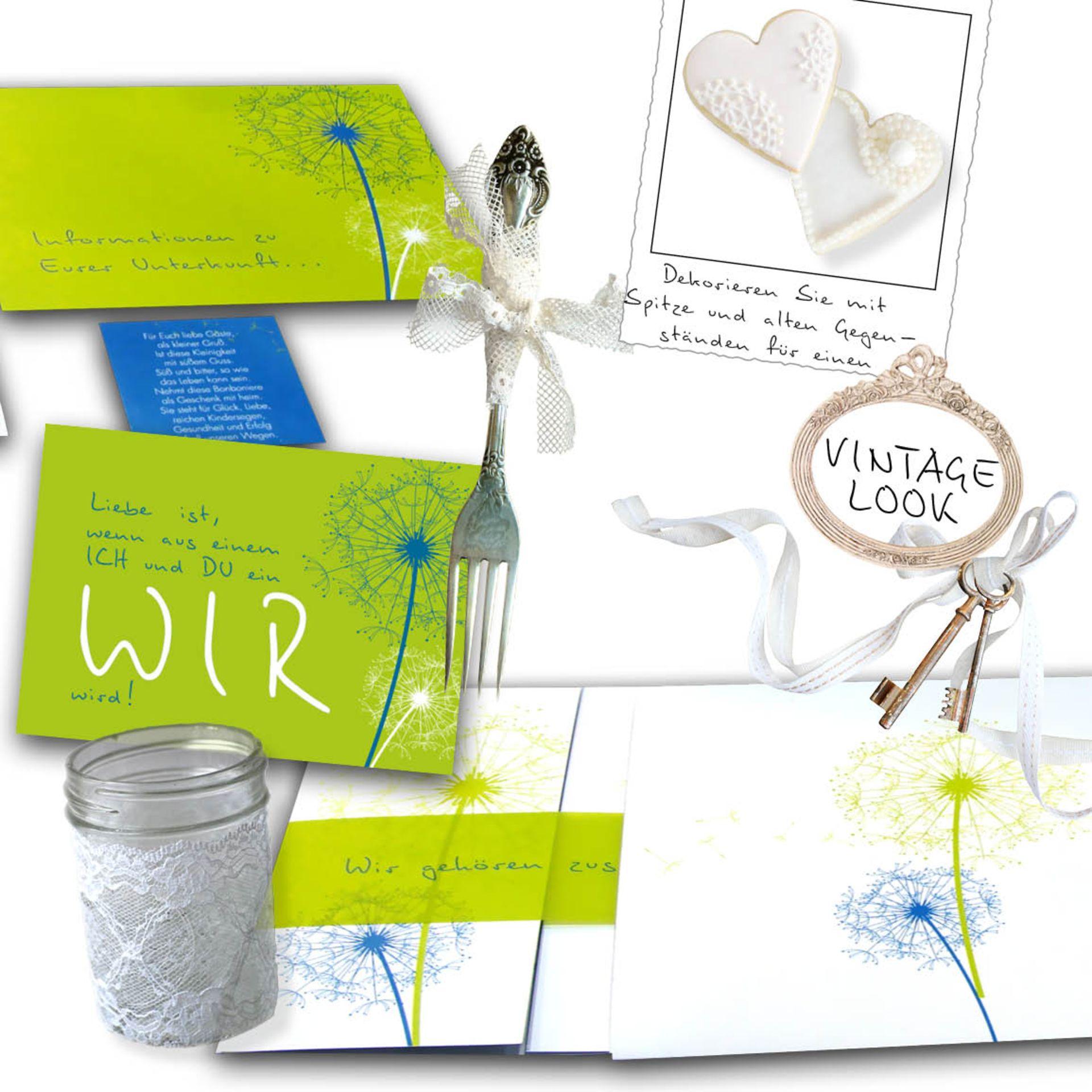 Kreative Hochzeitskarten Set Fur Sie Vom Designer Gestaltet
