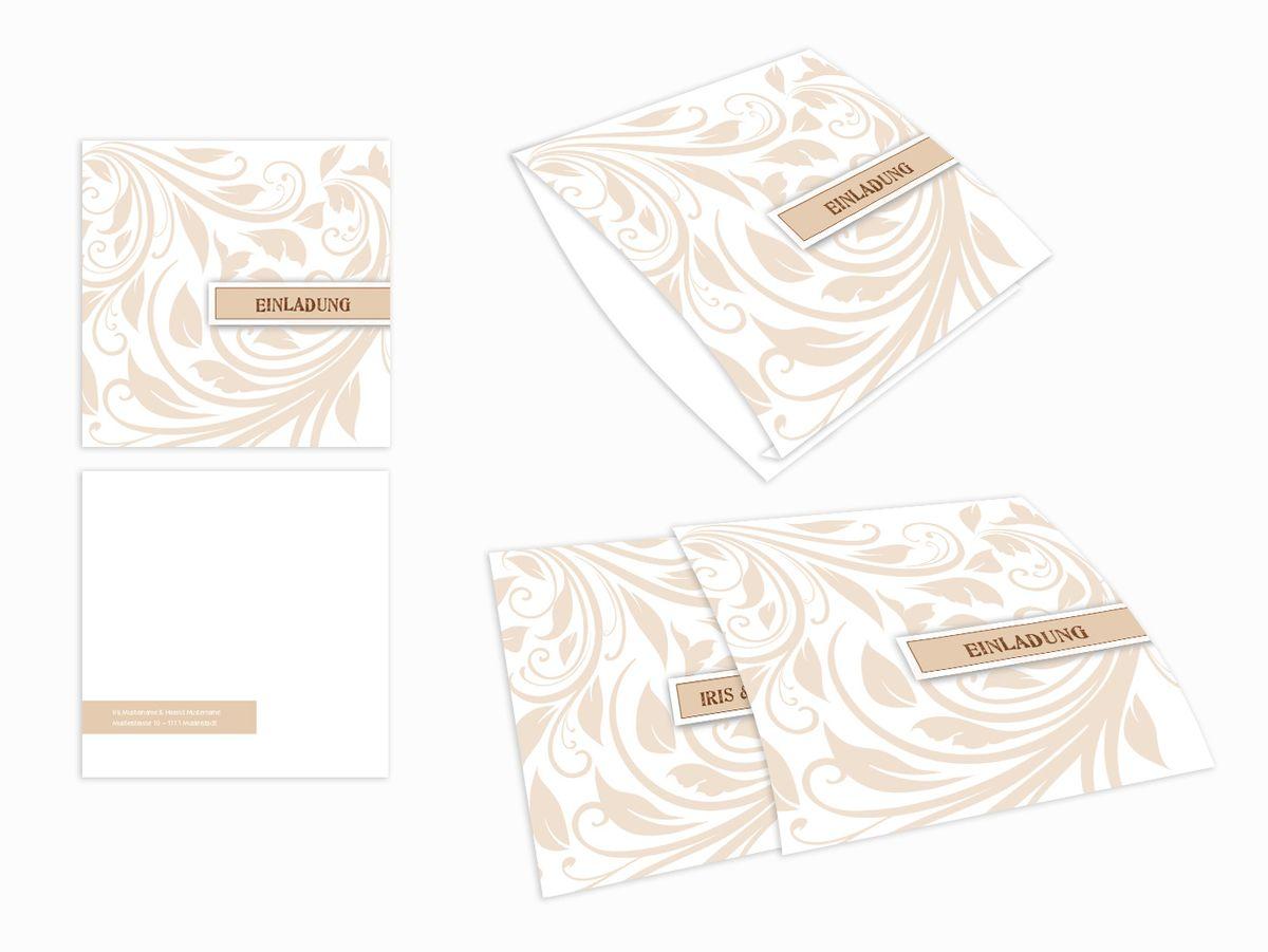 Einsteck Kuverts Muster Im Trend