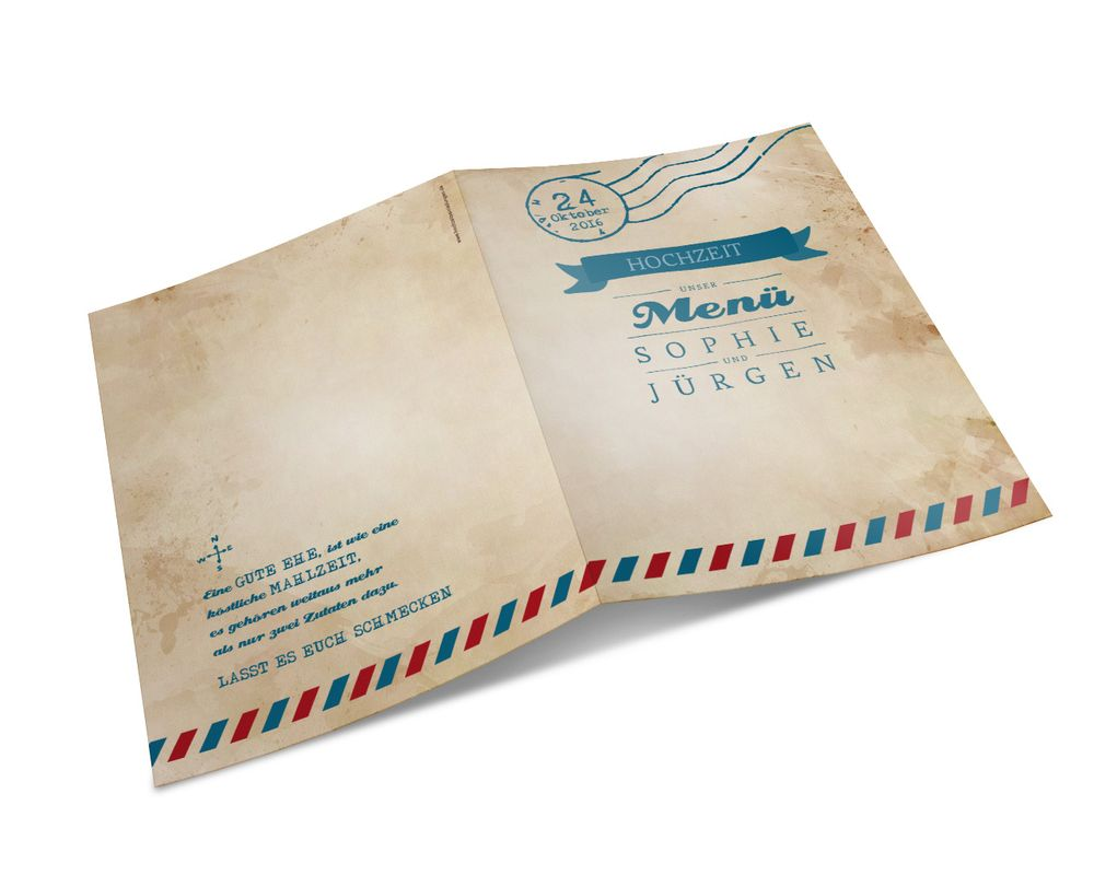 Kirchenhefte Ticket Airmail 4 You