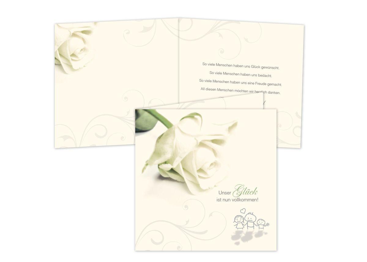 Dankeskarten im fensterfalz rosige zukunft altarfalz hochzeitseinladungen 1