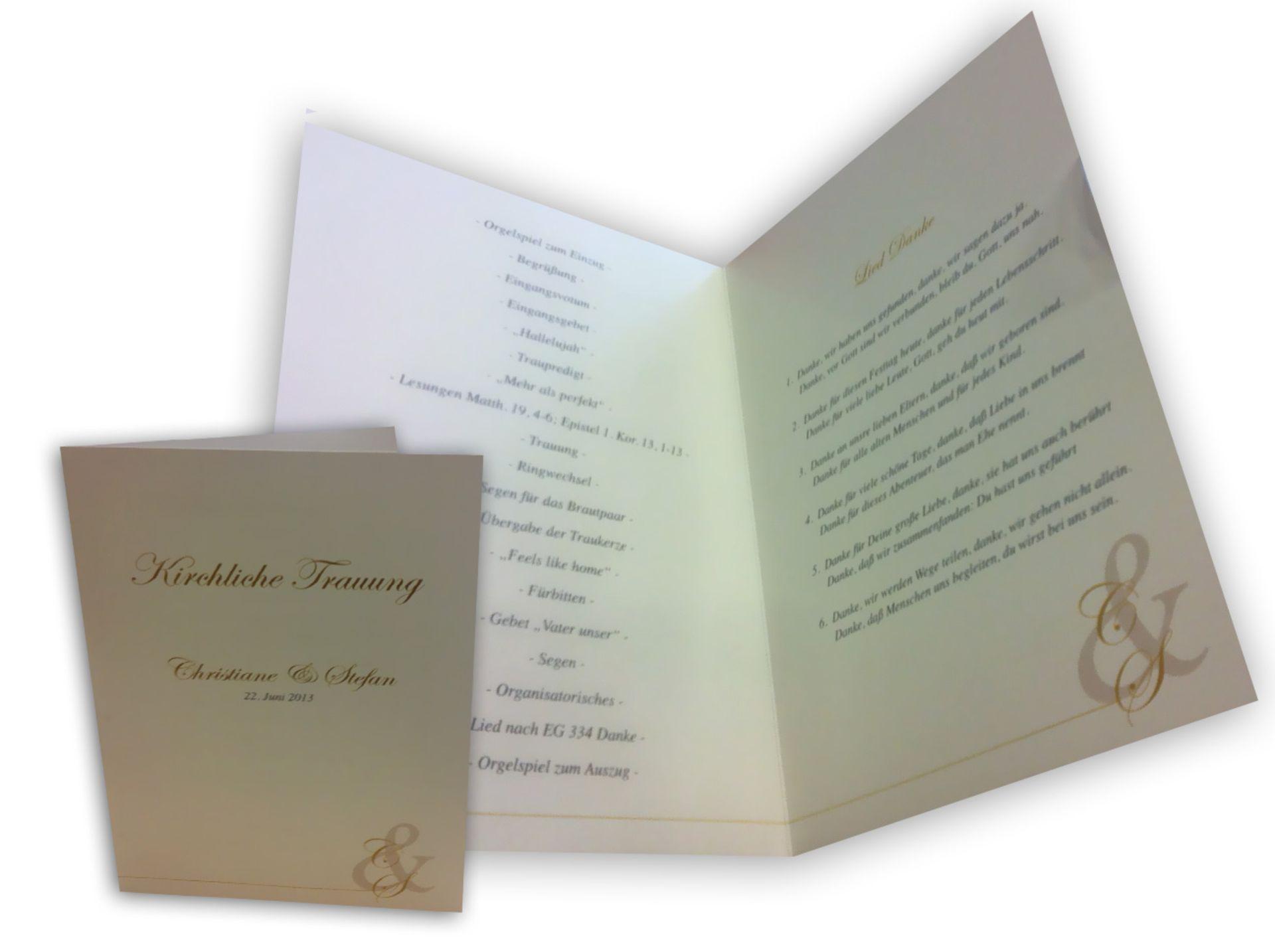 Kirchenhefte Passend Zu Ihren Hochzeitseinladungen