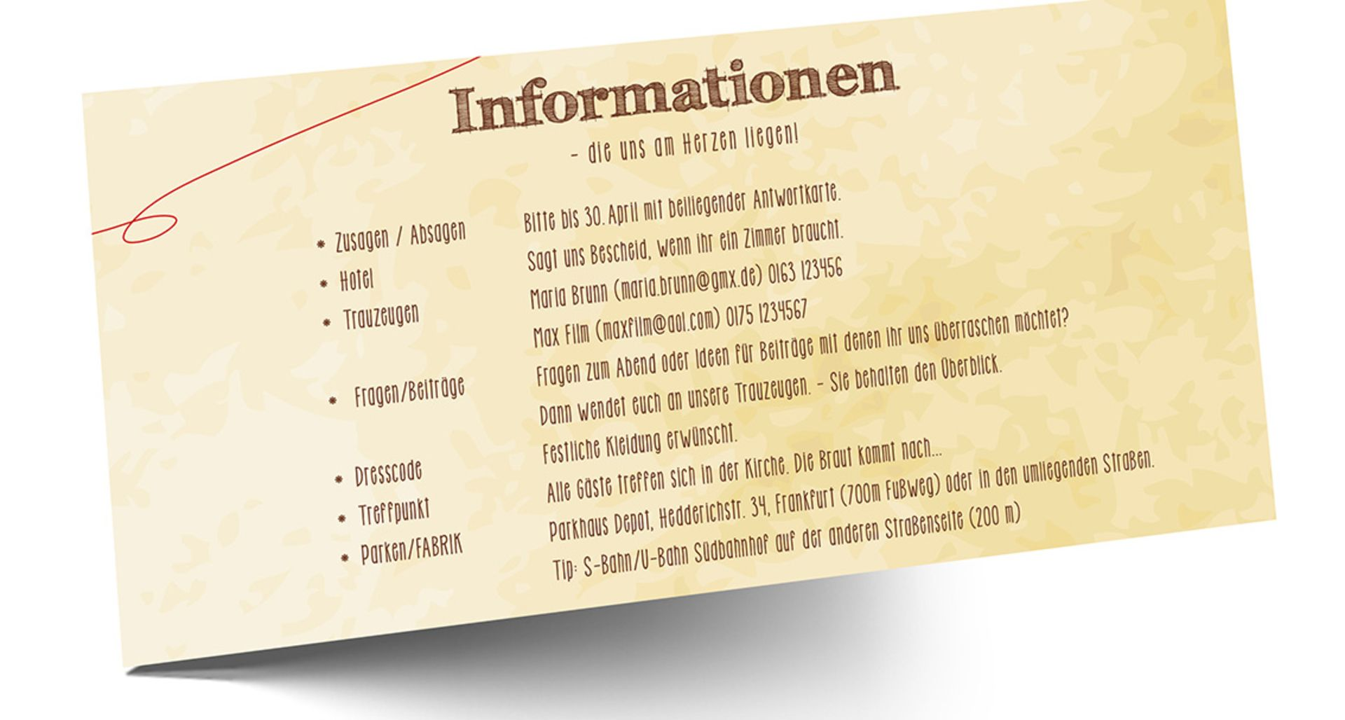 Einladungskarten Hochzeit Frankfurt Vorlagen Design