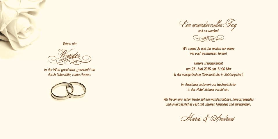 Hochzeitseinladung rosige zeiten sepia - Hochzeitseinladung text modern ...