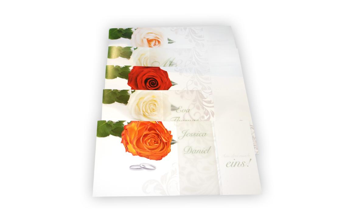 Hochzeitseinladung Belle Rose