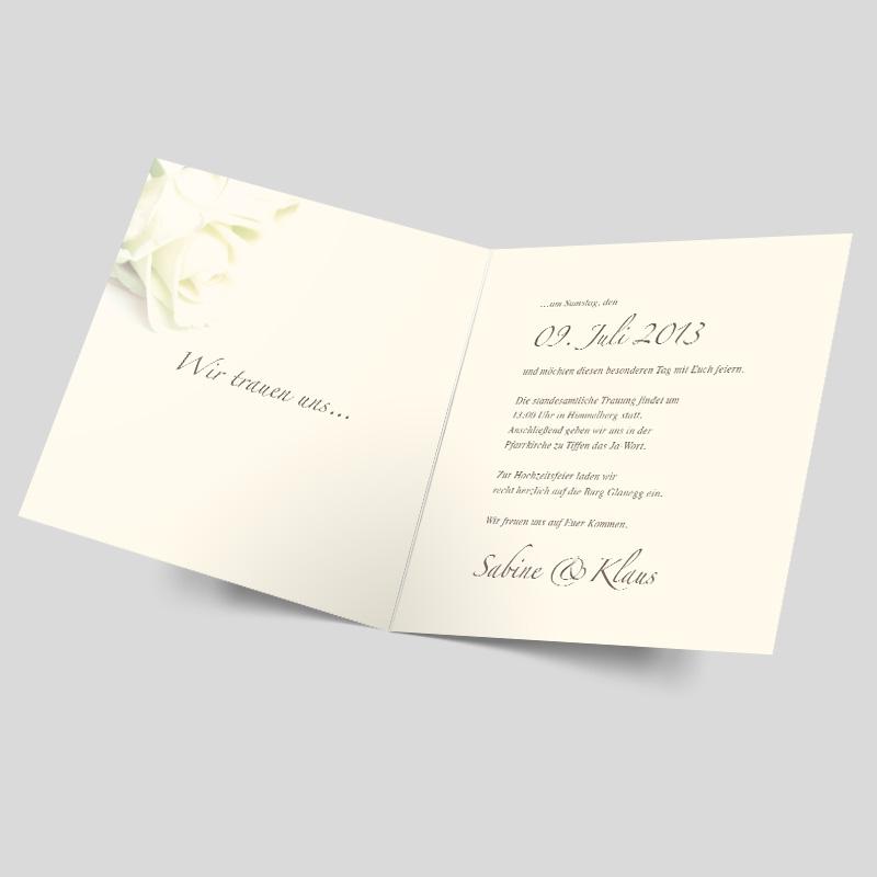 Hochzeitseinladung - Rosige Zukunft - Gold