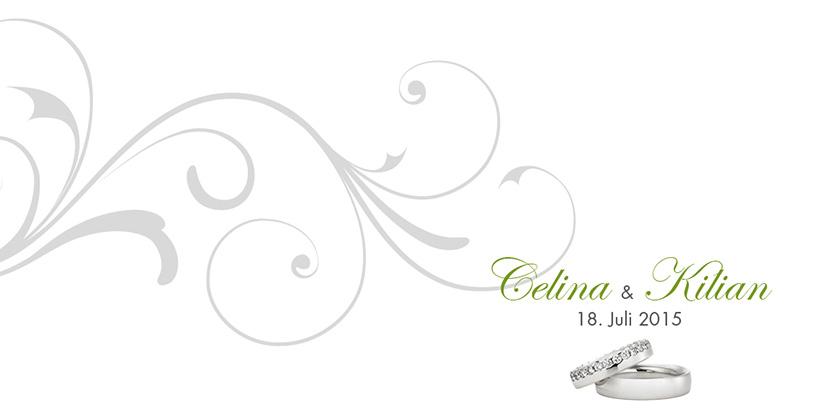 Hochzeitseinladungen Rosige Zukunft Silber