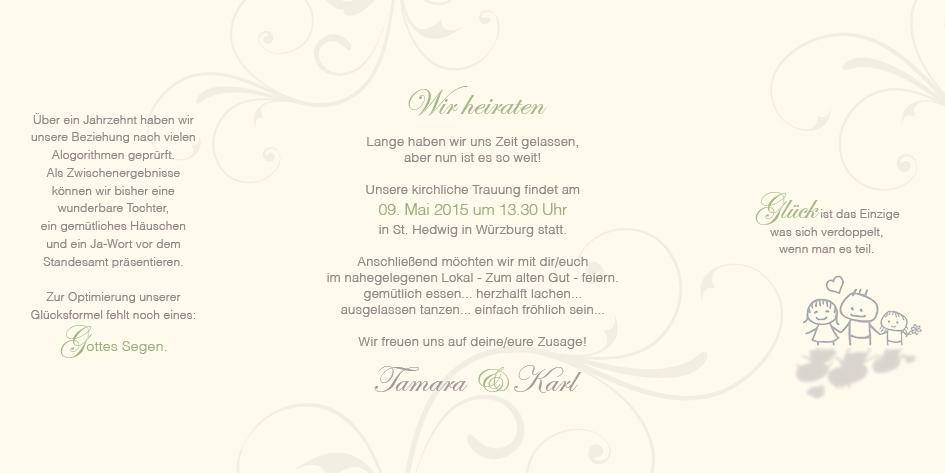 Hochzeitseinladung im fensterfalz rosige zukunft - Hochzeitseinladung text modern ...