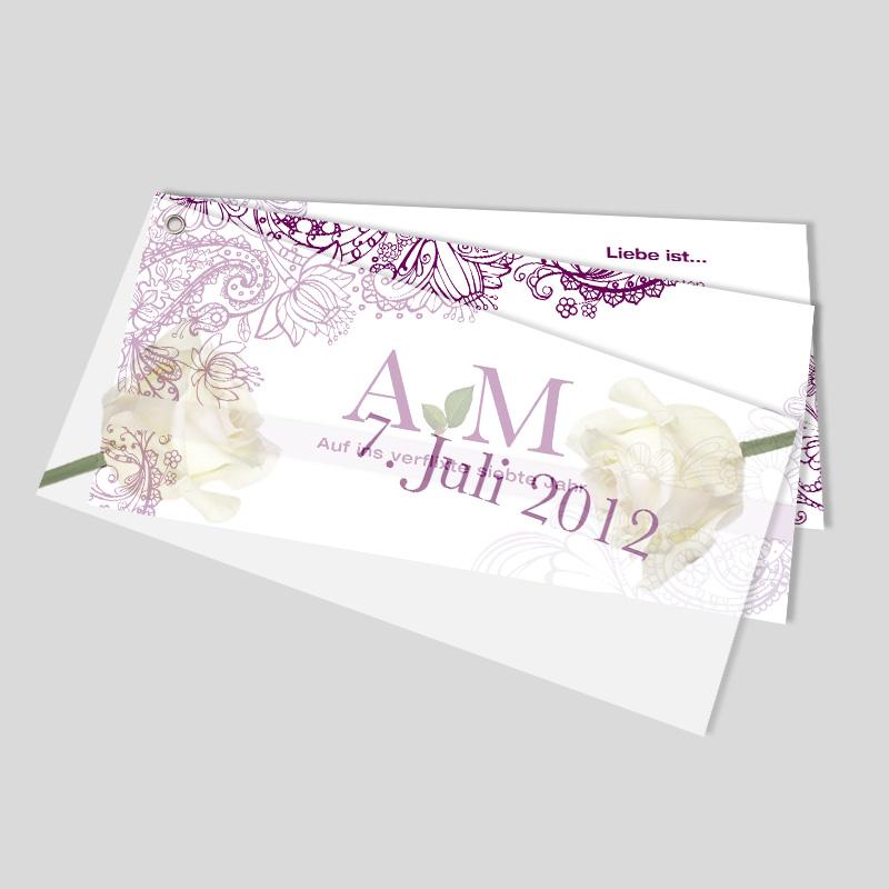 Hochzeitseinladung Florale Ornamente Mit Oese Jackpot