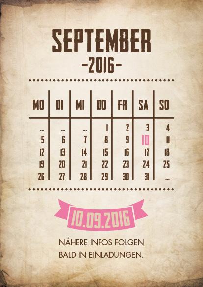 mit Romantik - so lässt sich das Design dieser Save the Date Karten ...