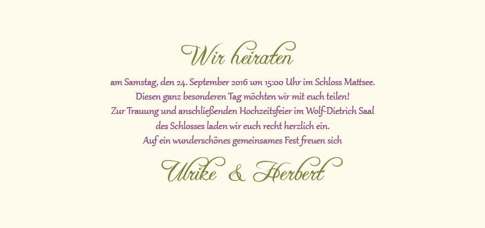 Hochzeitseinladung eine rose bl ht - Hochzeitseinladung text modern ...