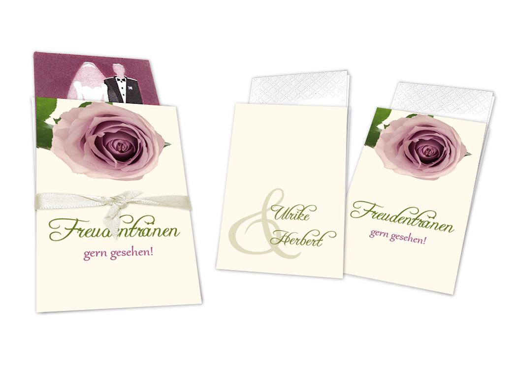 Taschentuchhüllen eine rose blüht din a6 1