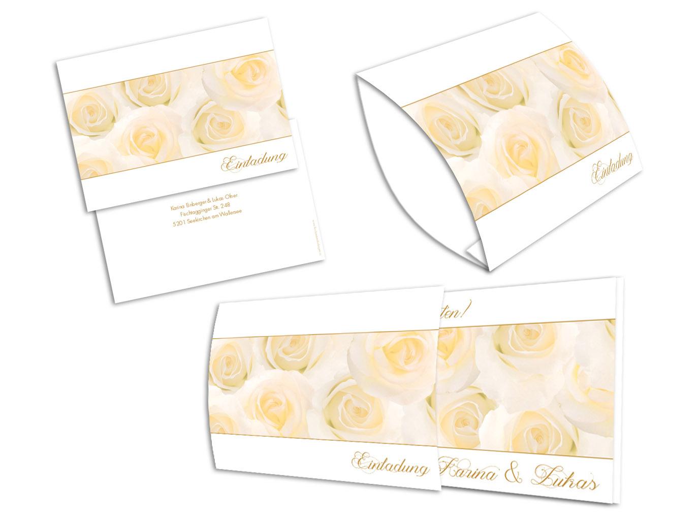 Einsteck kuverts rosenzeit