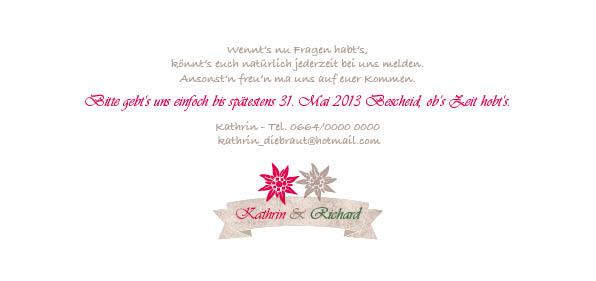Hochzeitseinladung dresscode tracht