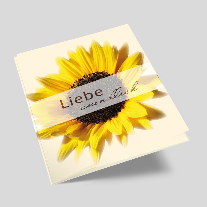 hochzeitseinladung - sonnenblume in ihrer pracht, Einladungsentwurf