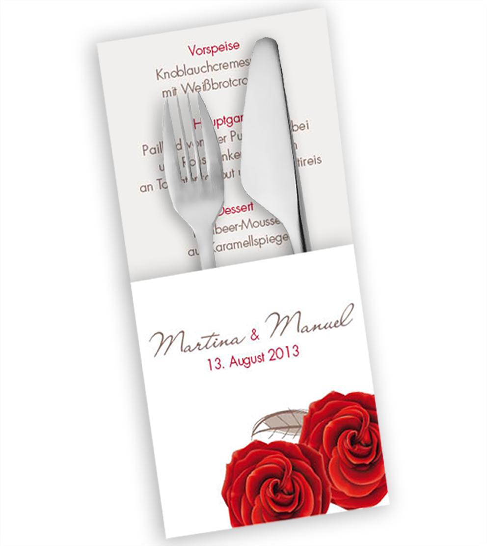 Hochzeitseinladungskarte rosensache