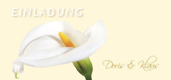 Fächer Hochzeitseinladungskarte - Vollkommene Calla