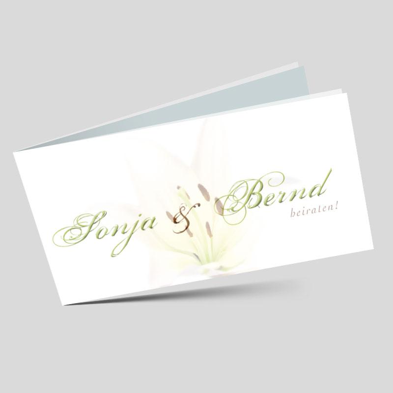Hochzeitseinladungskarte Lilientraum