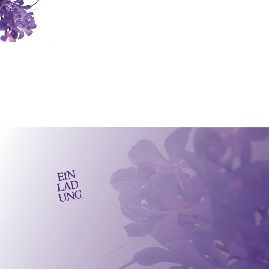 Einsteck kuverts violette blümchen