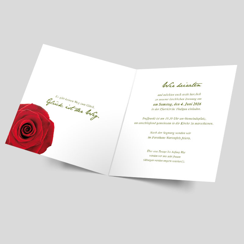 Hochzeitskarten Klassisch