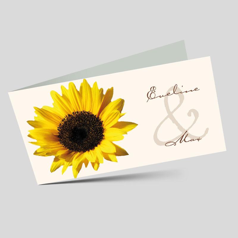 Schön Hochzeitseinladung   Die Sonnenblume, Einladungsentwurf